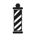 barber shop pole icon design vector image