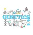 Biotechnology Linear Design vector image