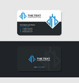 black business card for board games vector image vector image