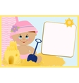 Blank template for greetings card vector image