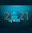 business innovation technology 2021 new year set vector image