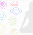 chakra icons in respective colors vector image vector image