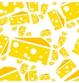 cheese seamless pattern vector image vector image
