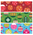 christmas bauble banners vector image