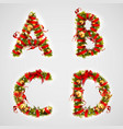 christmas font four letters abcd of christmas