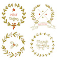 Christmas wreaths set vector image