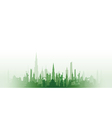 cityscape with fade green vector image vector image