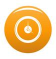 clock deadline icon orange vector image vector image
