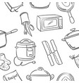 collection stock of kitchen set element doodles vector image vector image