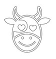 cow face emotion icon sign design vector image vector image