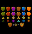 create celtic shield set icons constructor vector image