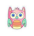 Cute owlet colorful cloth patch applique