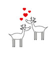 deer with love icon vector image vector image
