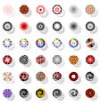 design elements set with rotation vector image vector image