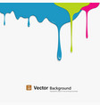 Dropping colorful background vector image vector image