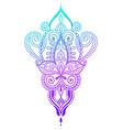 ethnic paisley hand draw tattoo design henna vector image vector image