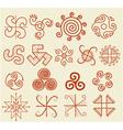 Ethnic tribal native sun symbol vector image
