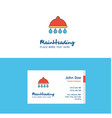 flat shower logo and visiting card template vector image