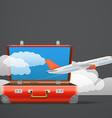 Flying aircraft Vacation concept vector image vector image