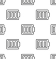 full battery seamless pattern vector image vector image