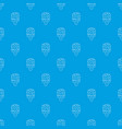 glaze ice cream pattern seamless blue vector image vector image