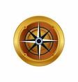 golden compass eps icon logo download vector image