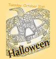 halloween card image pop art vector image