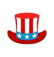hat in usa flag colors icon vector image vector image