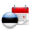 Icon of national day in estonia vector image vector image
