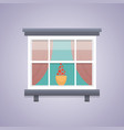 interior window architecture vector image vector image