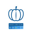 isolated pumpkin outline gourd element can vector image vector image