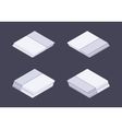 Isometric white nextgen gaming console vector image