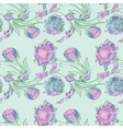 Japan Style Provence Floral Pattern vector image vector image
