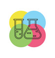 laboratory tubes icon - chemistry and science vector image vector image