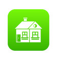 large single-storey house icon digital green vector image vector image