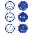 Like it Follow retro labels vector image vector image