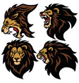 lion head logo set sport esport mascot vector image vector image