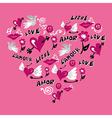 Love symbols heart shape vector image vector image