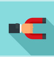 magnet customer retention icon flat style vector image