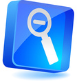 Magnifuing glass Icon vector image