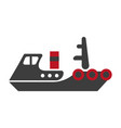 minimalistic flat schematic ship isolated black vector image