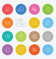 modern circle thin line icon set vector image vector image