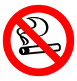 no smoking red sign vector image