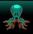 octopus esport mascot logo design vector image vector image
