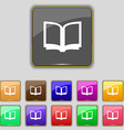 Open book icon sign Set with eleven colored vector image vector image