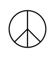 peace symbol simple flat icon black sign vector image vector image