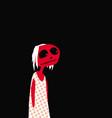 phantom sad ghost girl in a white dress vector image