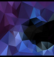 polygonal square background black blue purple vector image vector image