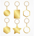 realistic detailed 3d empty template keychain set vector image vector image