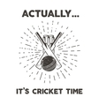 Retro cricket club emblem design Cricketing logo vector image vector image